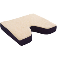 "Essential Medical N1008 Fleece Covered Coccyx Cushion-18""x16""x3"""