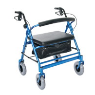Essential Medical W1802B-14 Heavy Duty Four Wheel Walker